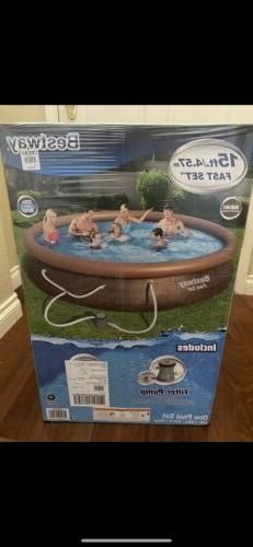 BRAND NEW Bestway FASTSET 15 ft x33in Above Ground Swimming