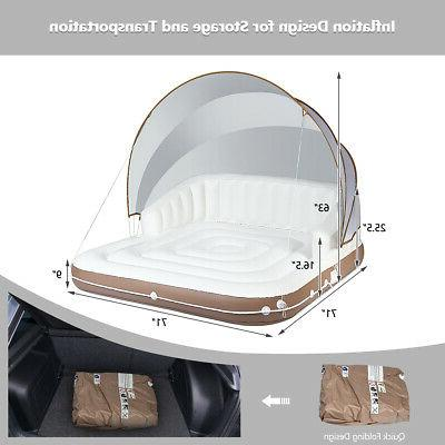 Canopy Inflatable Pool Float Lounge Lounge