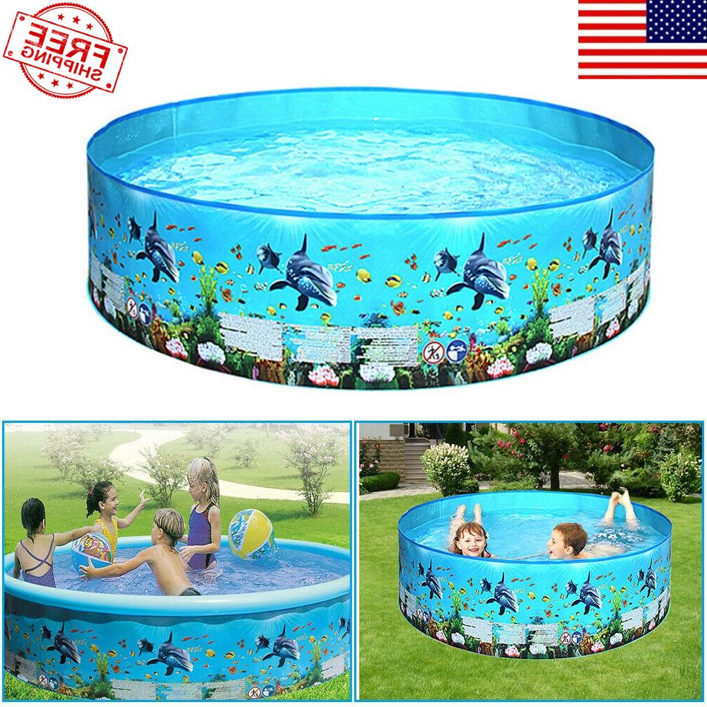 children inflatable swimming pool large family summer