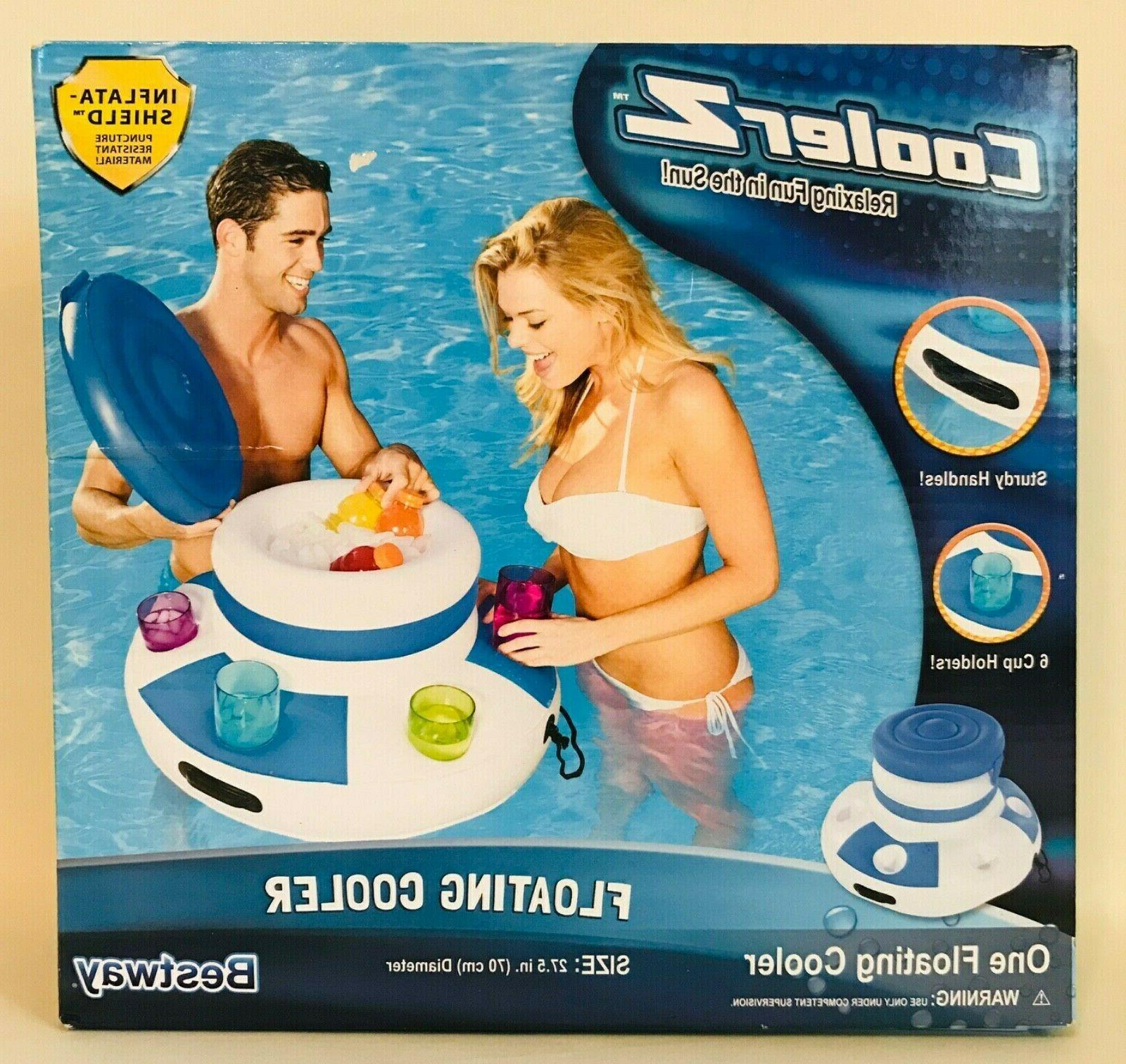 coolerz inflatable floating cooler raft pool beach