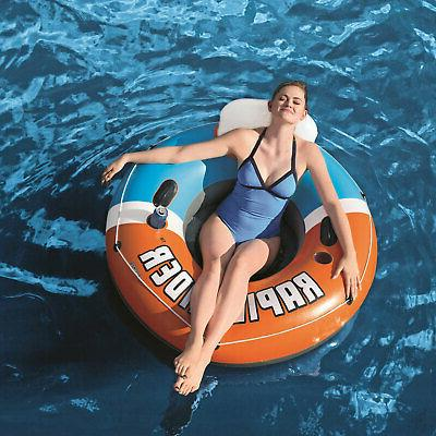Bestway Rapid Rider Inflatable Pool Float, Orange