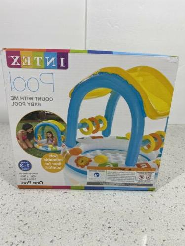Intex Count Baby Swimming Pool Shade Inflated Floor Play Squeakers