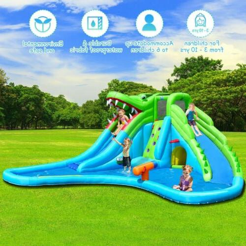 Crocodile Pool Slide Climbing Wall House Wading Party