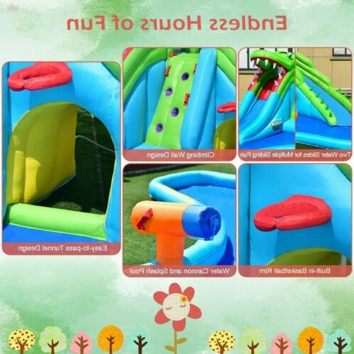 Crocodile Inflatable Slide Climbing Bounce House Party
