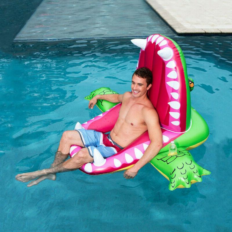 crocodile rideable swimming ring inflatable pool toy