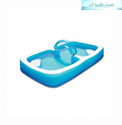 deluxe frosted inflated family pool 120 x
