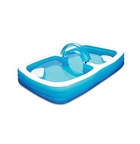 deluxe frosted inflated family pool