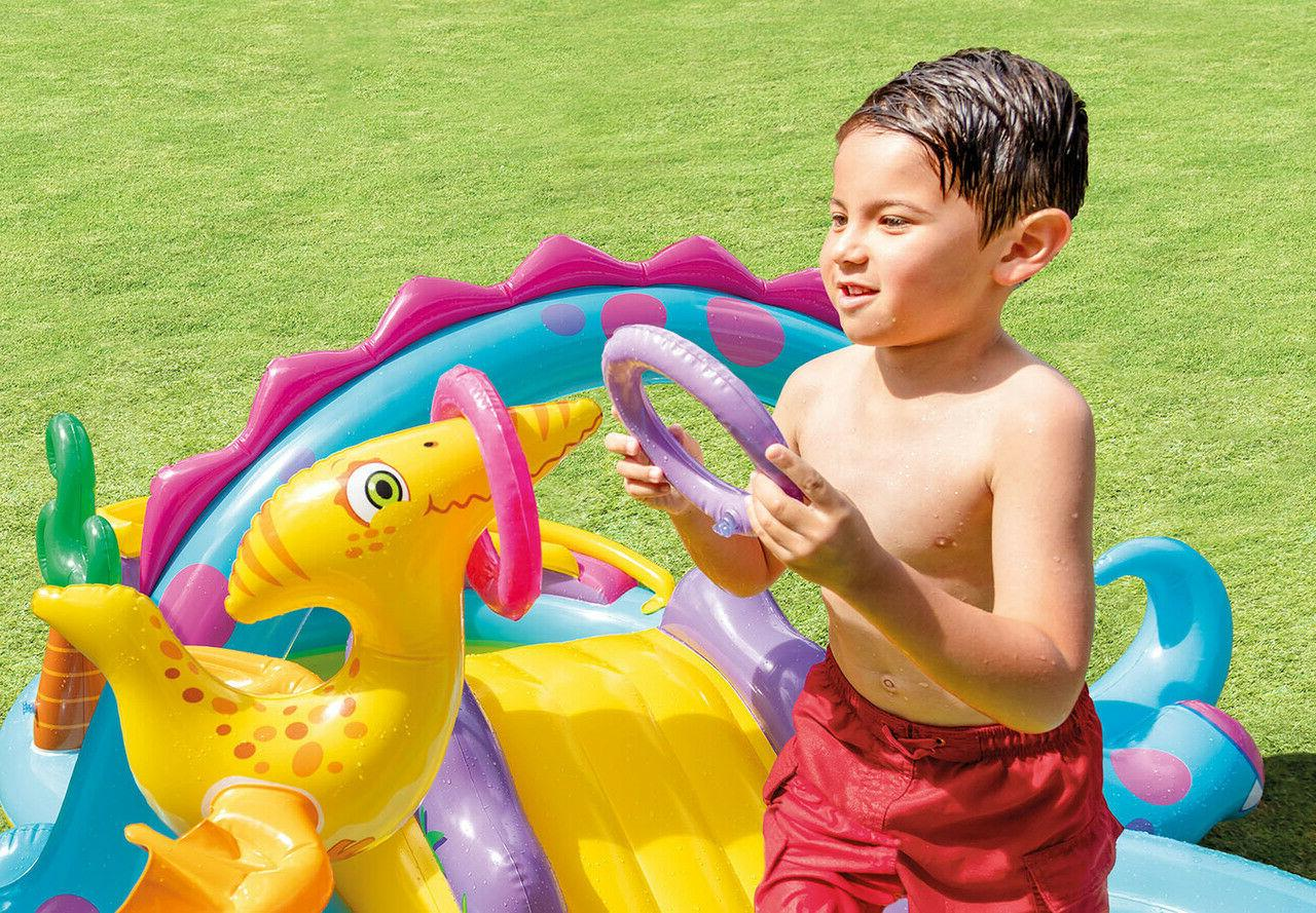 Intex Dinosaur Inflatable Swim Play Kiddie Backyard Pool