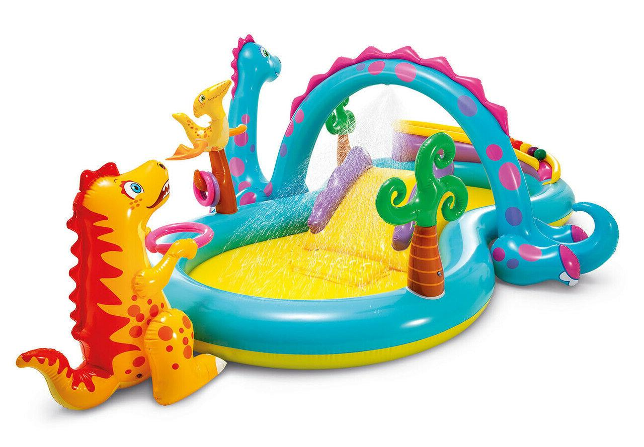 dinosaur dinoland inflatable swim play center kiddie