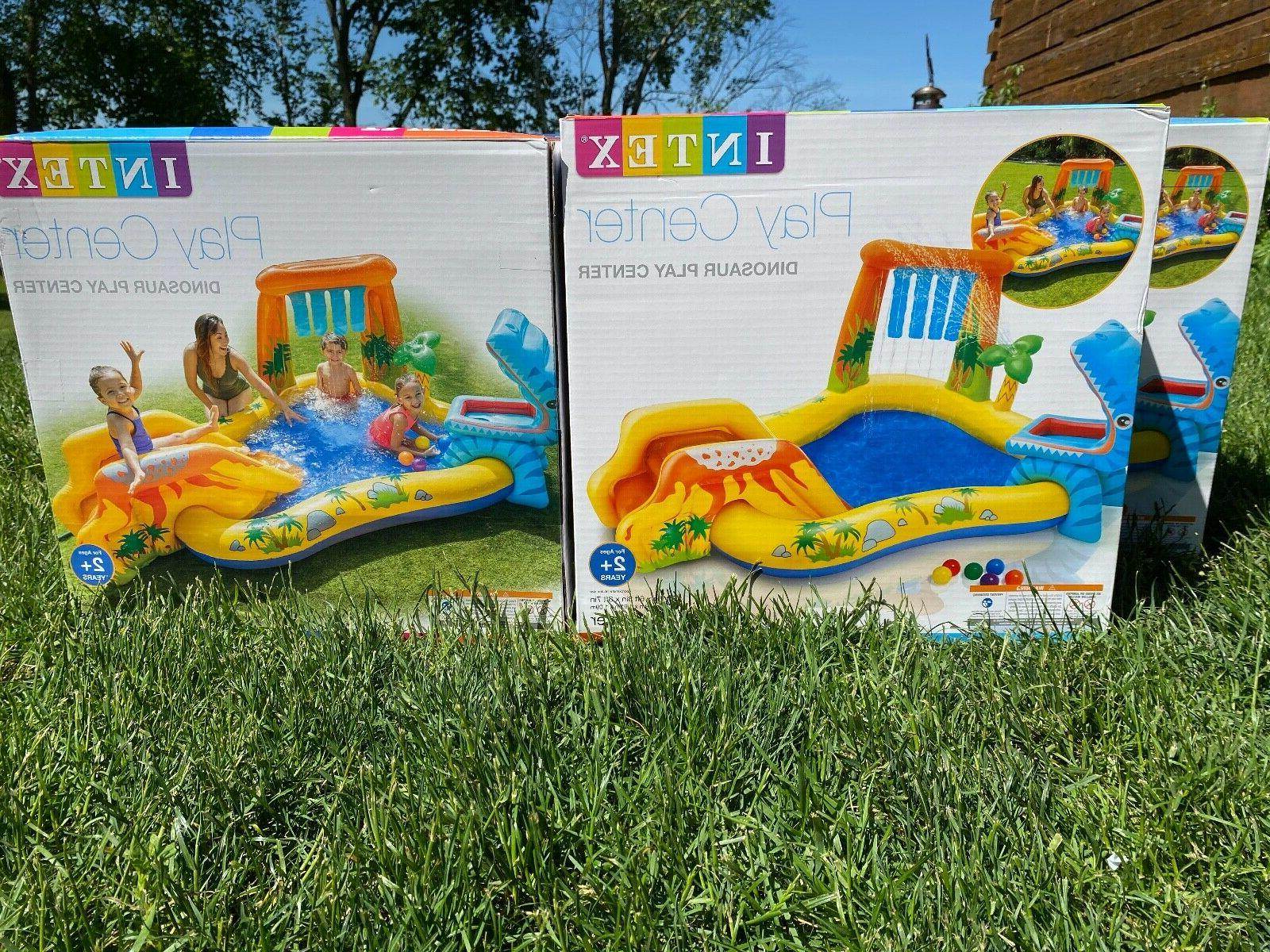 dinosaur play center inflatable pool and toy