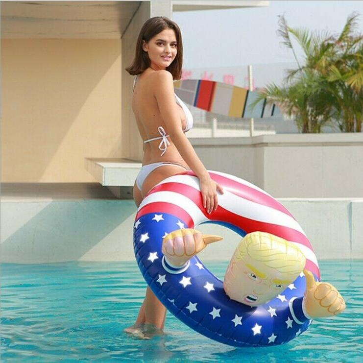 Donald Trump Swimming Fun Inflatable Float Party Gag Toy