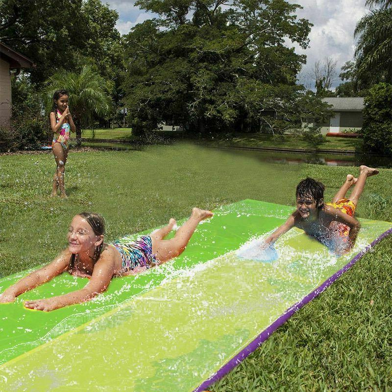 Double Slide Inflatable Swimming Pool Outdoor