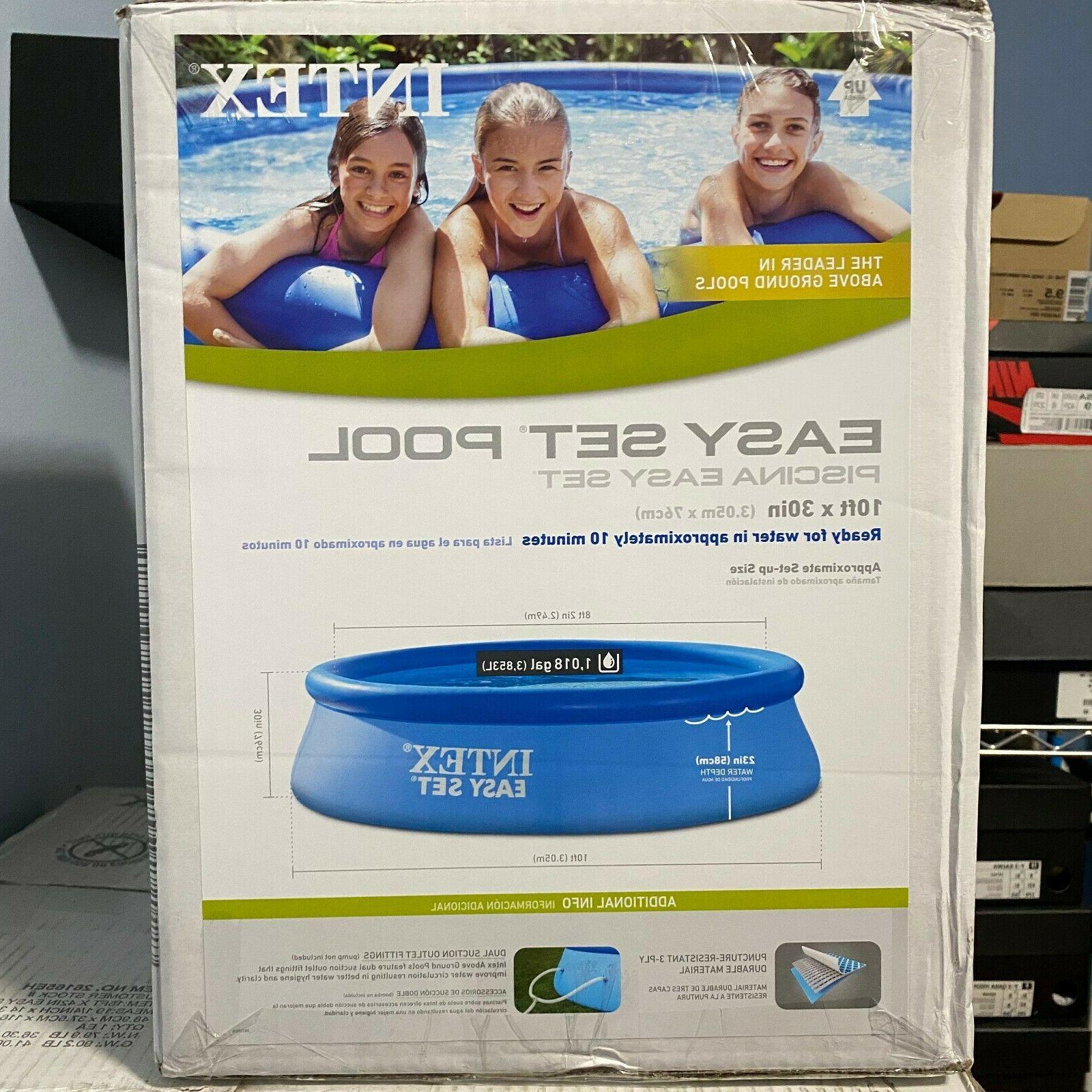 Intex Set x 30in Above Inflatable Round Pool No