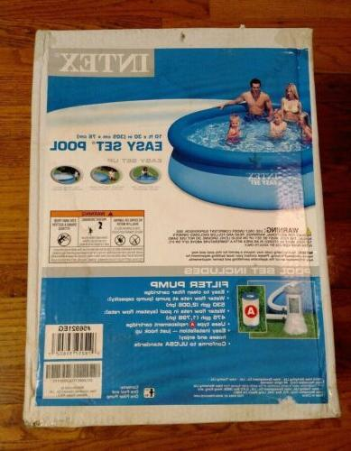 easy set inflatable round swimming pool 10ft
