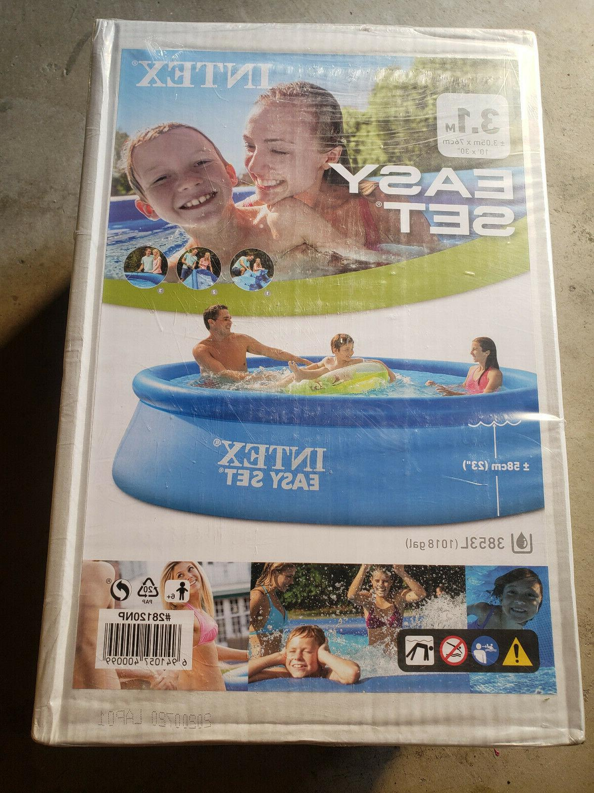 easy set inflatable swimming pool 10 ft