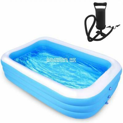 family swimming pool outdoor garden summer inflatable