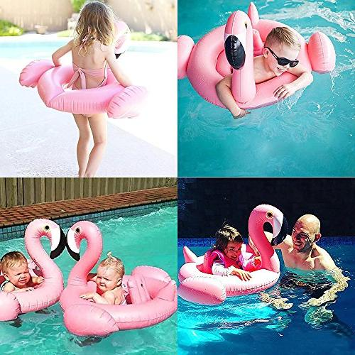Yarssir Flamingo Pool Float for Inflatable Floats Pool Raft Baby Inflatable Drink Holder 2 Pack, 100% Swimming Toys for Party Pool