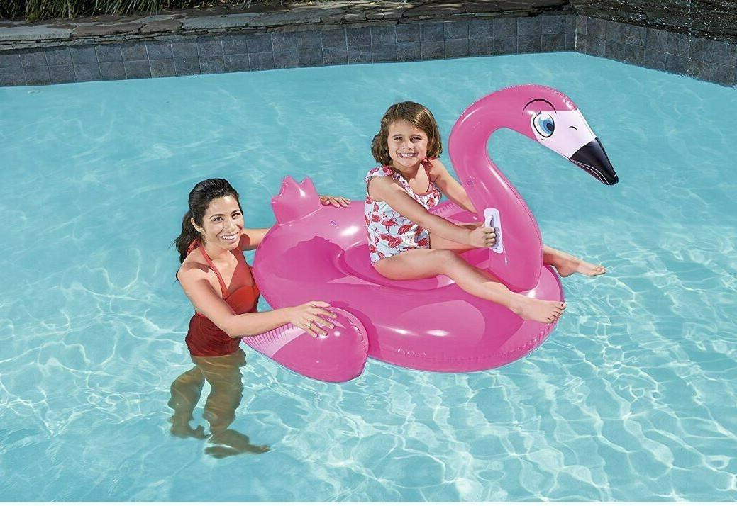flamingo rider inflatable pool float new in