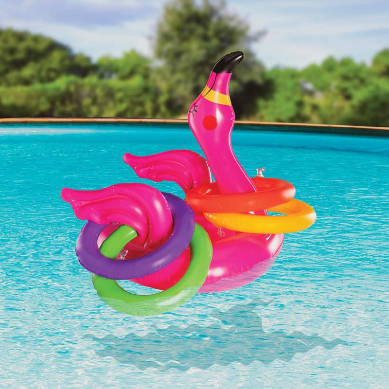 Top Flamingo Ring Toss Games Outdoor, Inflatable Pool