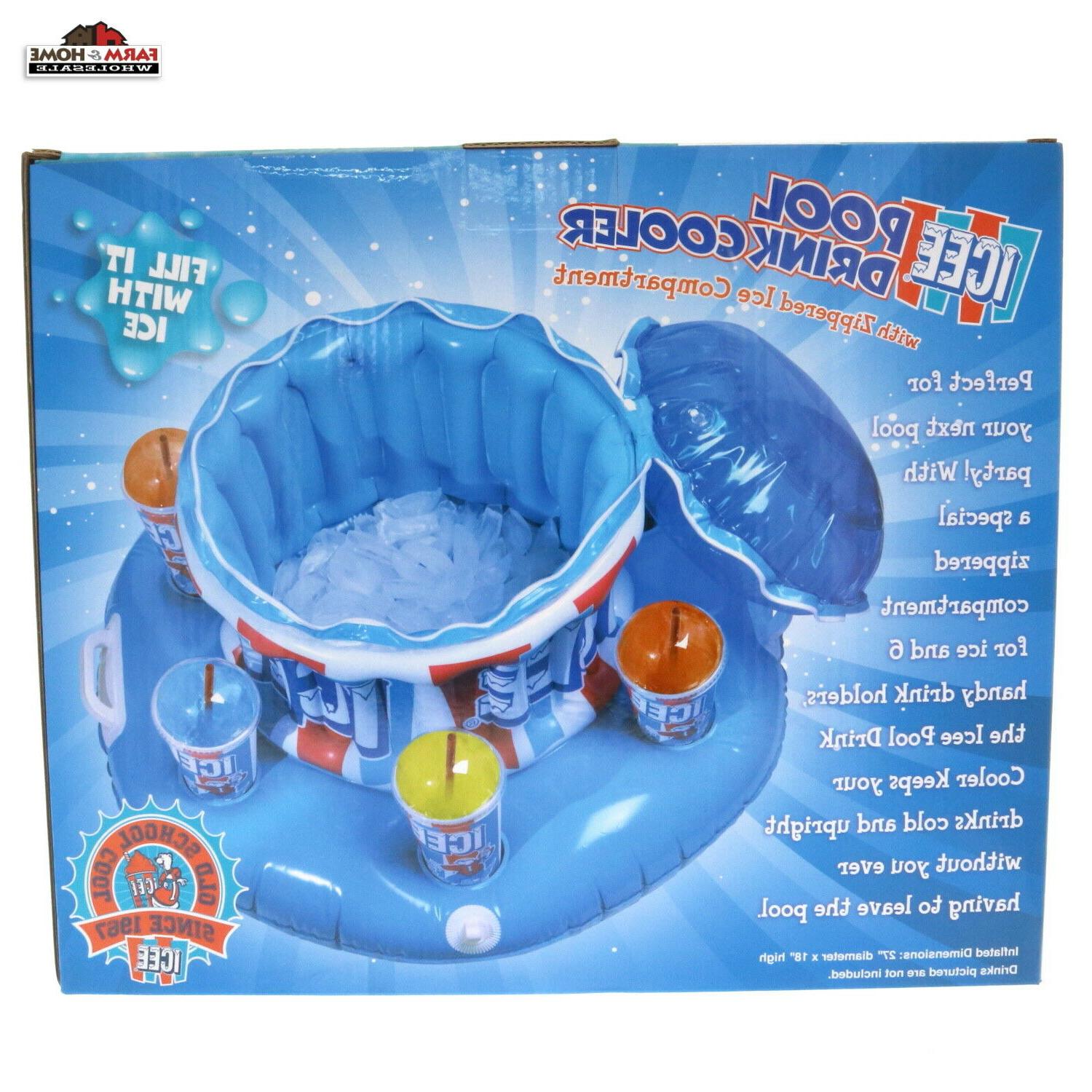 Floating Inflatable Cup Holder Cooler New