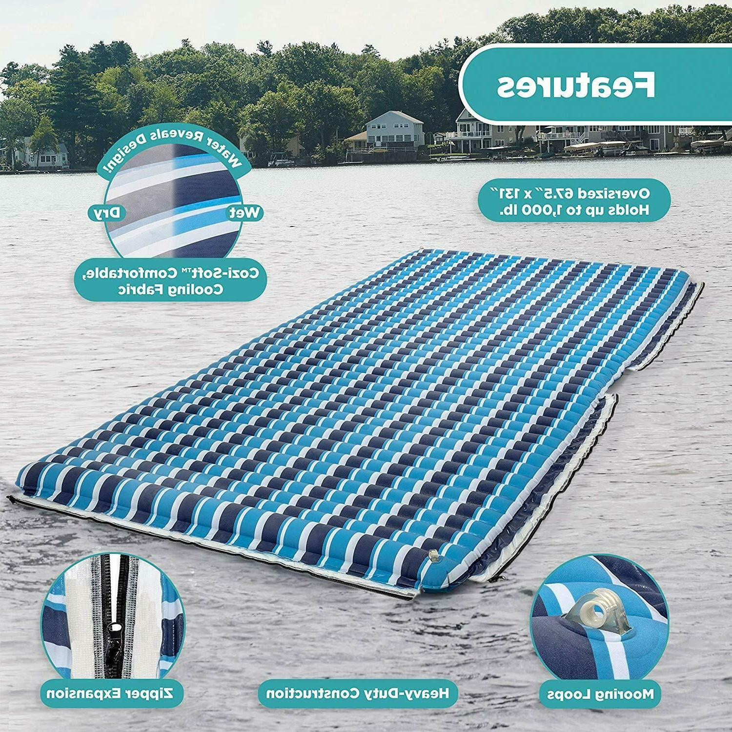 Floating Platform Inflatable Raft Pool Expand Swimming Dock Water Party