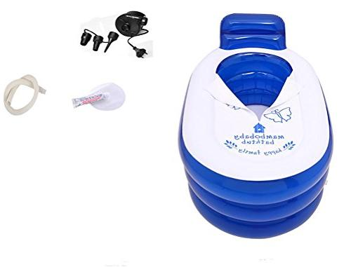 POTA Foldable Durable Adult SPA Inflatable Bath with Electric Air Pump ,