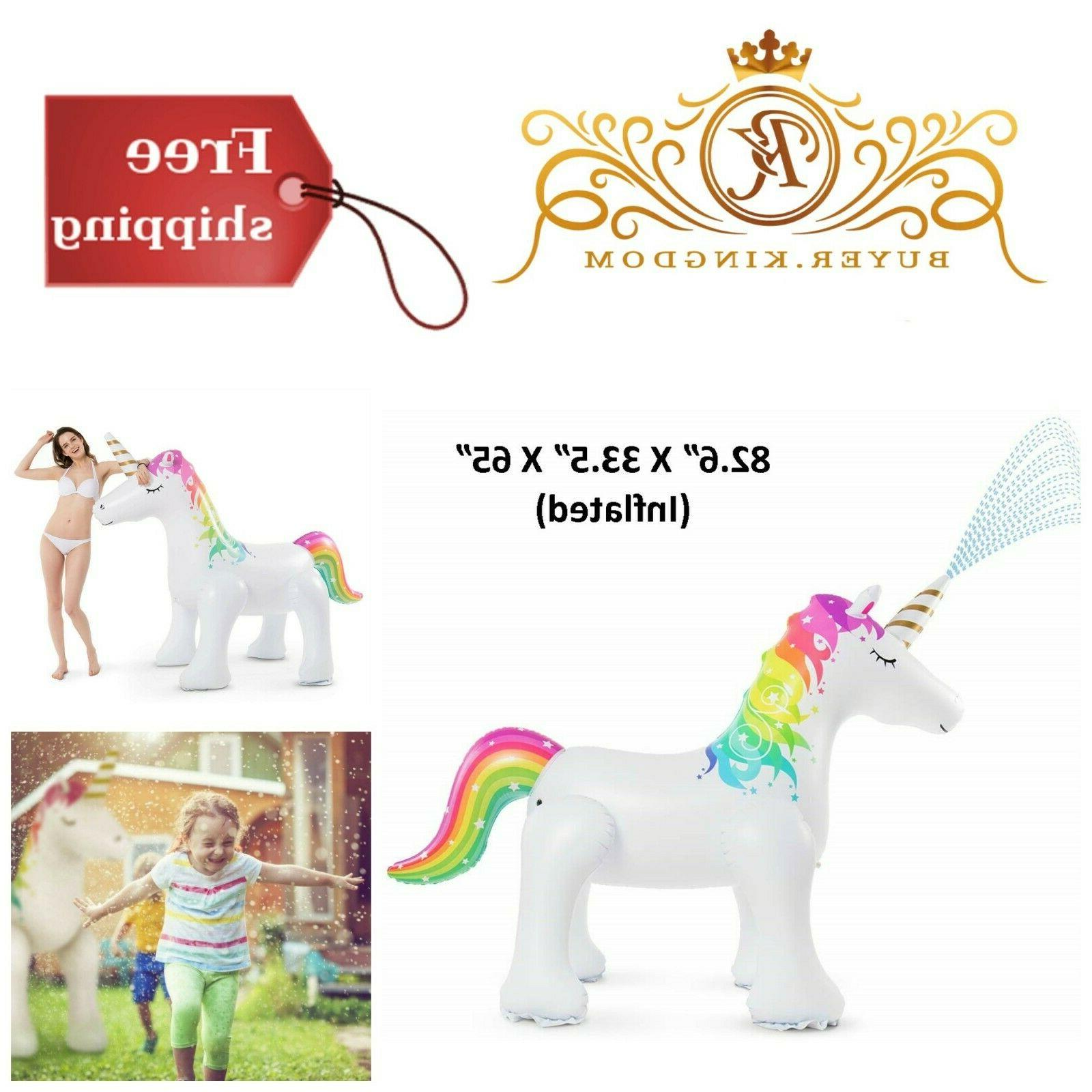 Giant Inflatable Sprinkler Unicorn Outdoor Yard Water Spray