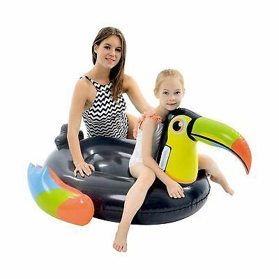 giant inflatable toucan pool float lounger air