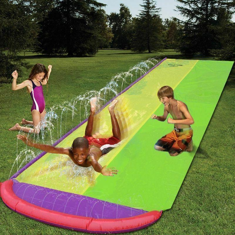 double water slide inflatable play slide