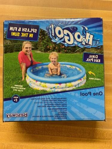h20 go inflatable coral three ring pool