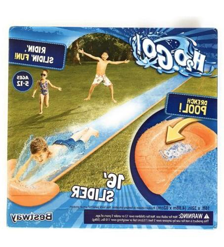 h2o go inflatable lawn water slide single