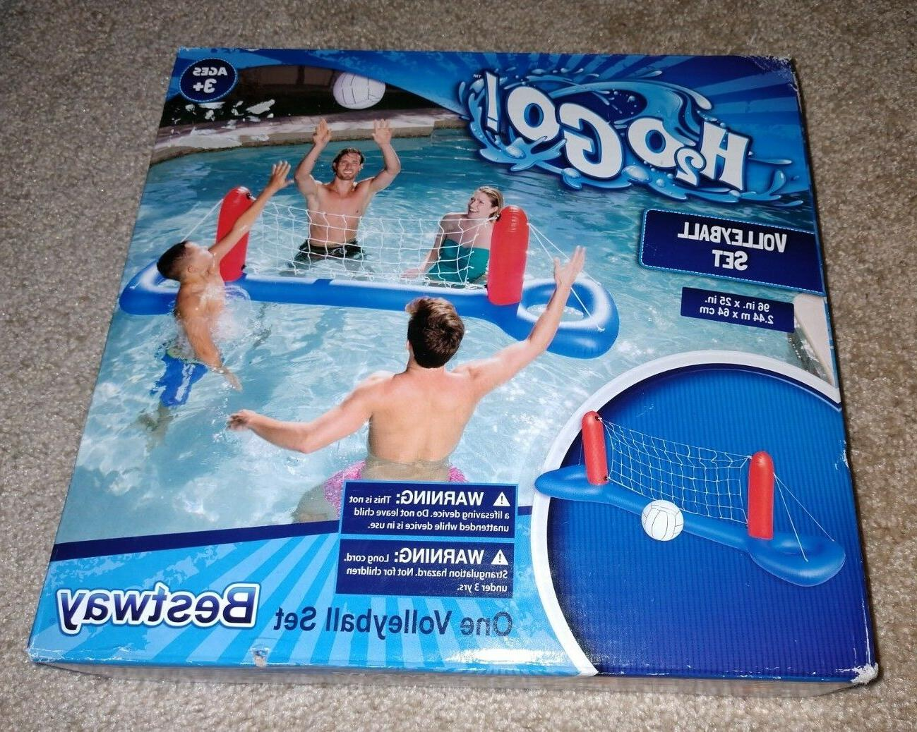 h2o go pool volleyball set pool toy