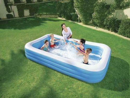 blue 10 ft foot rectangular family inflatable