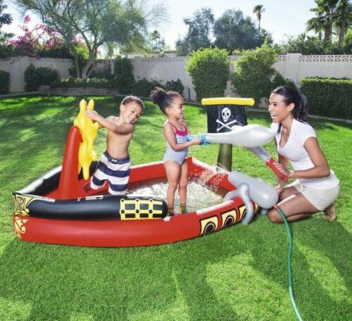 h2ogo inflatable pirate play pool center swimming