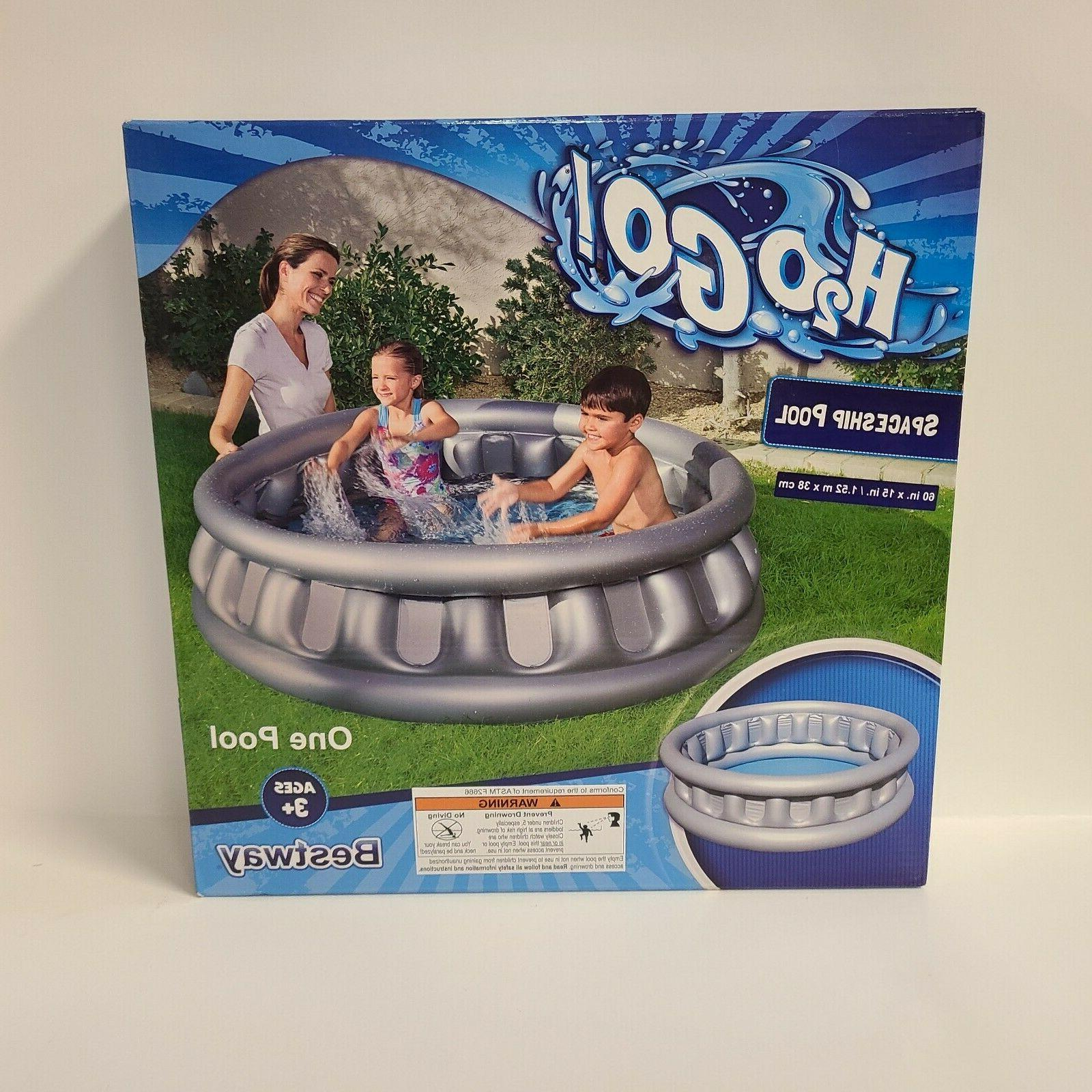 h2ogo inflatable spaceship kids water silver swimming