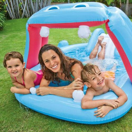 "Intex Hippo Play with Slide, x x 34"", for Ages"