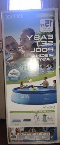 inflatable 15ftx42in easy set pool set