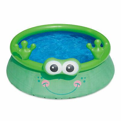 inflatable 6 foot frog character quick set