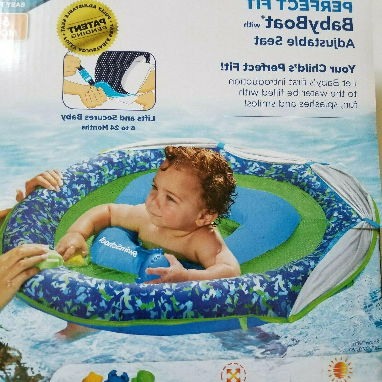 Inflatable Baby Boat Float Sunshade Sun Pool Floating Kids