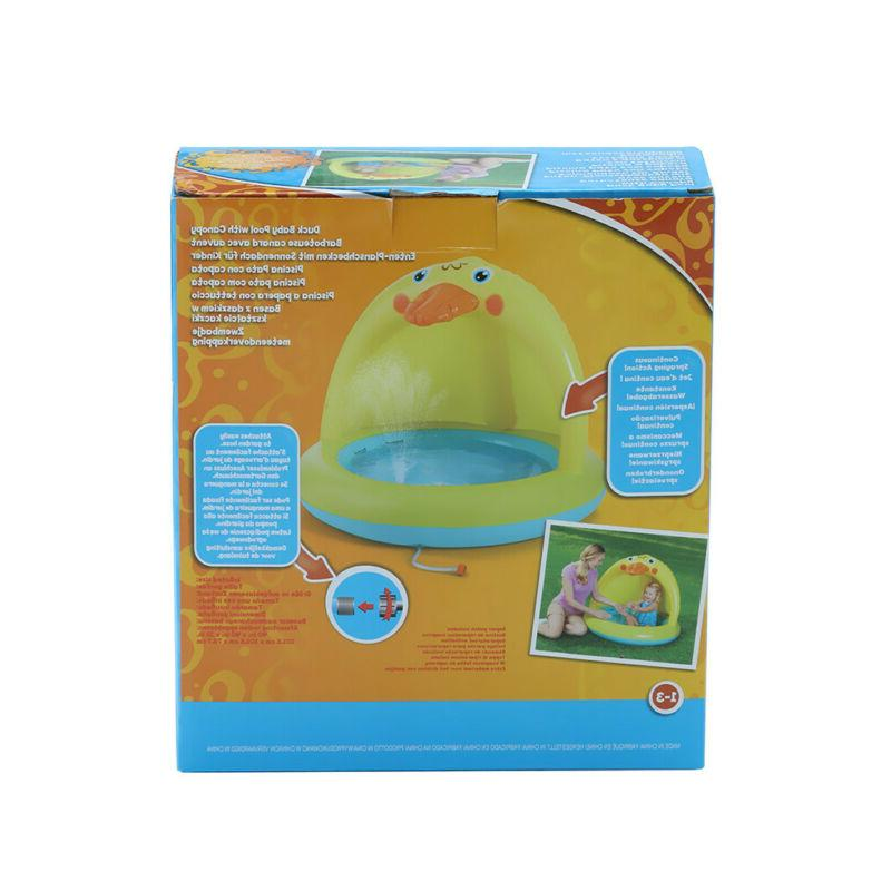 Inflatable Kids Pool Garden Kid Sunshade