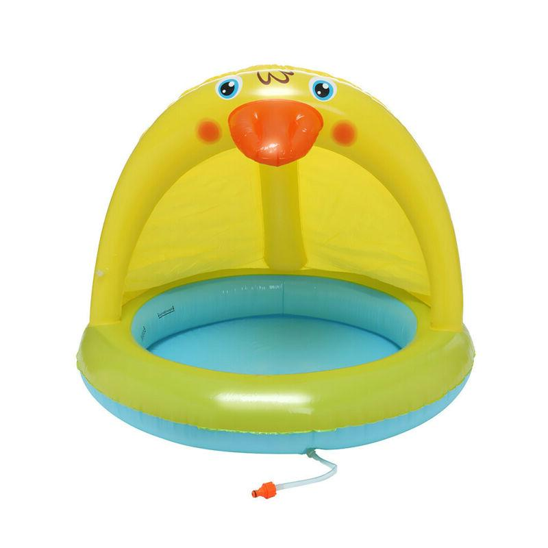 Inflatable Baby Swimming Pool Garden Play Kid Swim Sunshade