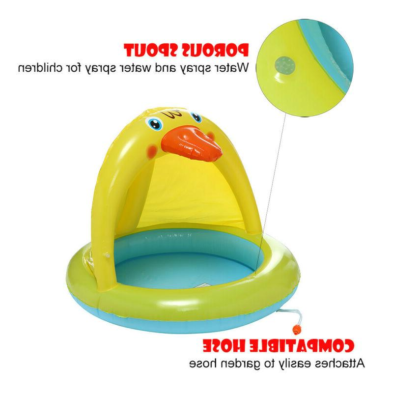 Inflatable Kids Pool Kid Swim With Sunshade
