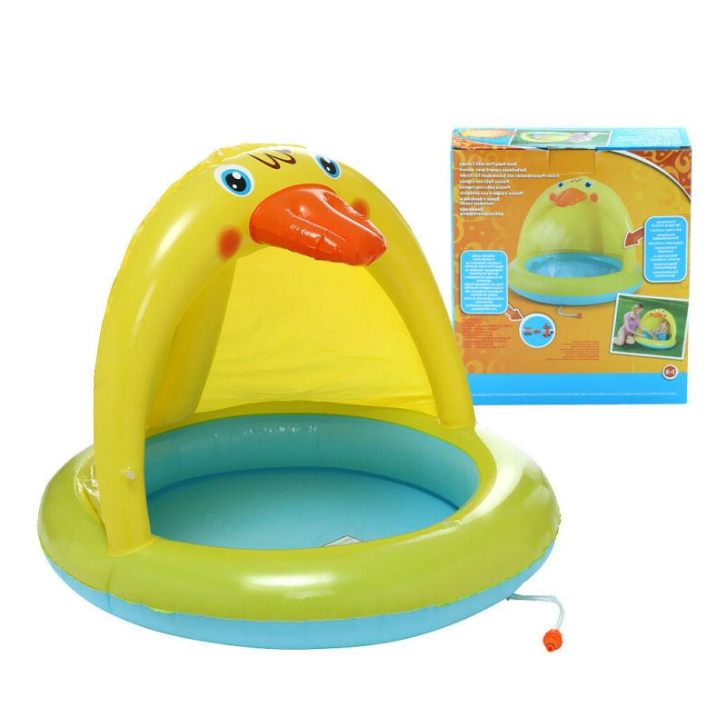 Inflatable Kids Pool Fun Kid Pools Sunshade