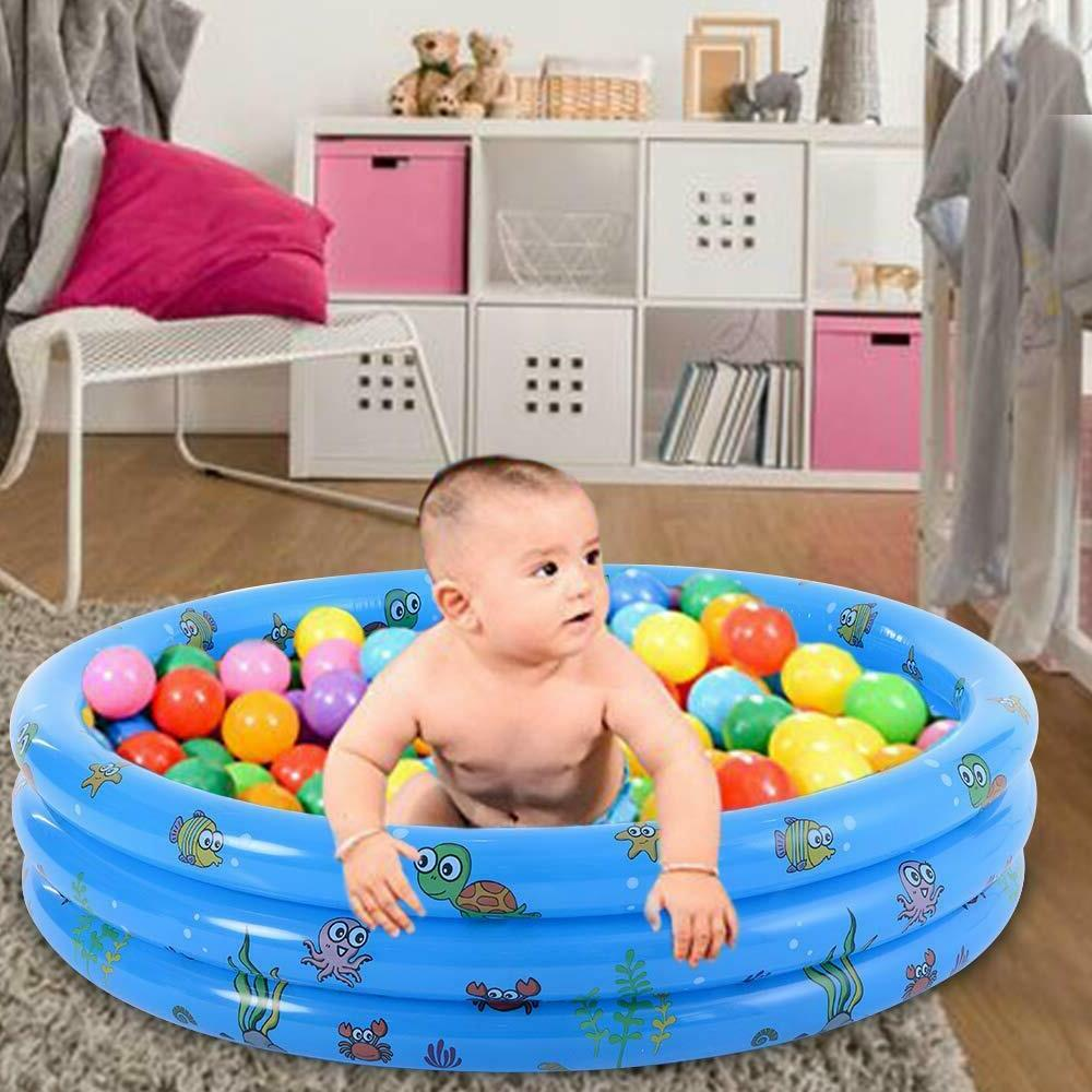 Summer Home Kids Baby Swimming Pool Inflatable Bathing 3 Layer Fun