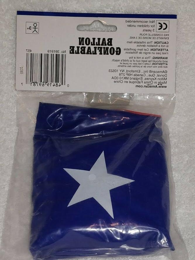 """Inflatable Beach Pool Toy Amscan 20"""" New Sealed US FLAG"""