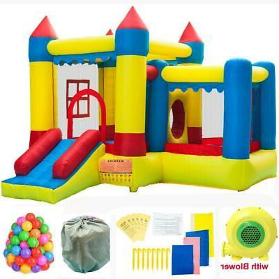 inflatable bounce house water slides pool moonwalk
