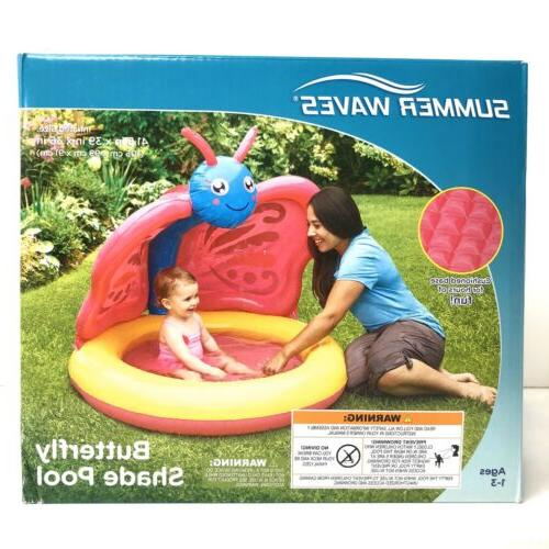 inflatable butterfly shade baby pool