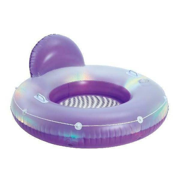 inflatable couch pool aqua glow deluxe tube