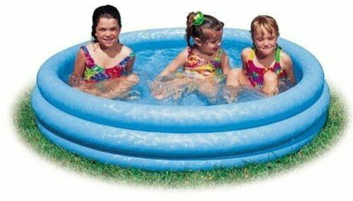 inflatable crystal blue swimming pool