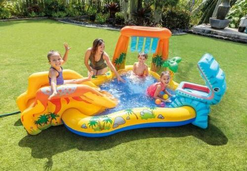 inflatable dinosaur play center swimming pool 8ft